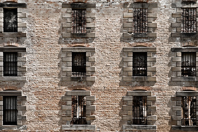 Close up of Granary/Penitentiary. Port Arthur, Tasmania.