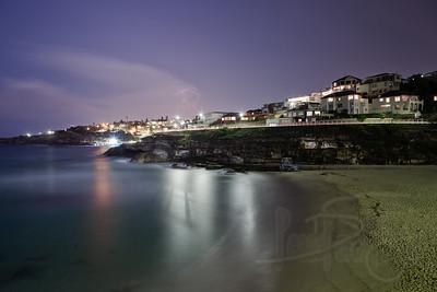 Tamarama Beach at Night. Sydney, Australia.
