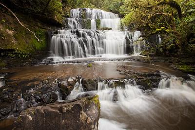 10.25.11 Purakunai Falls. Caitlins, South Island, NZ