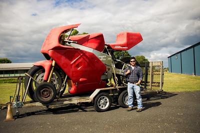 Fully functioning giant Ducati replica.
