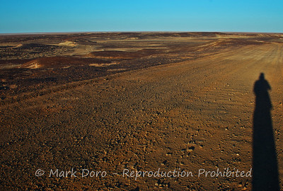 Self portrait - moonscape near Lake Eyre