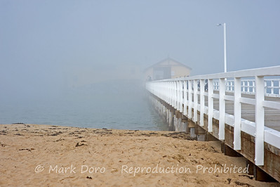Fog over Queenscliff Pier, Victoria