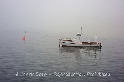 Fishing boat in the fog at St Leonards, Victoria