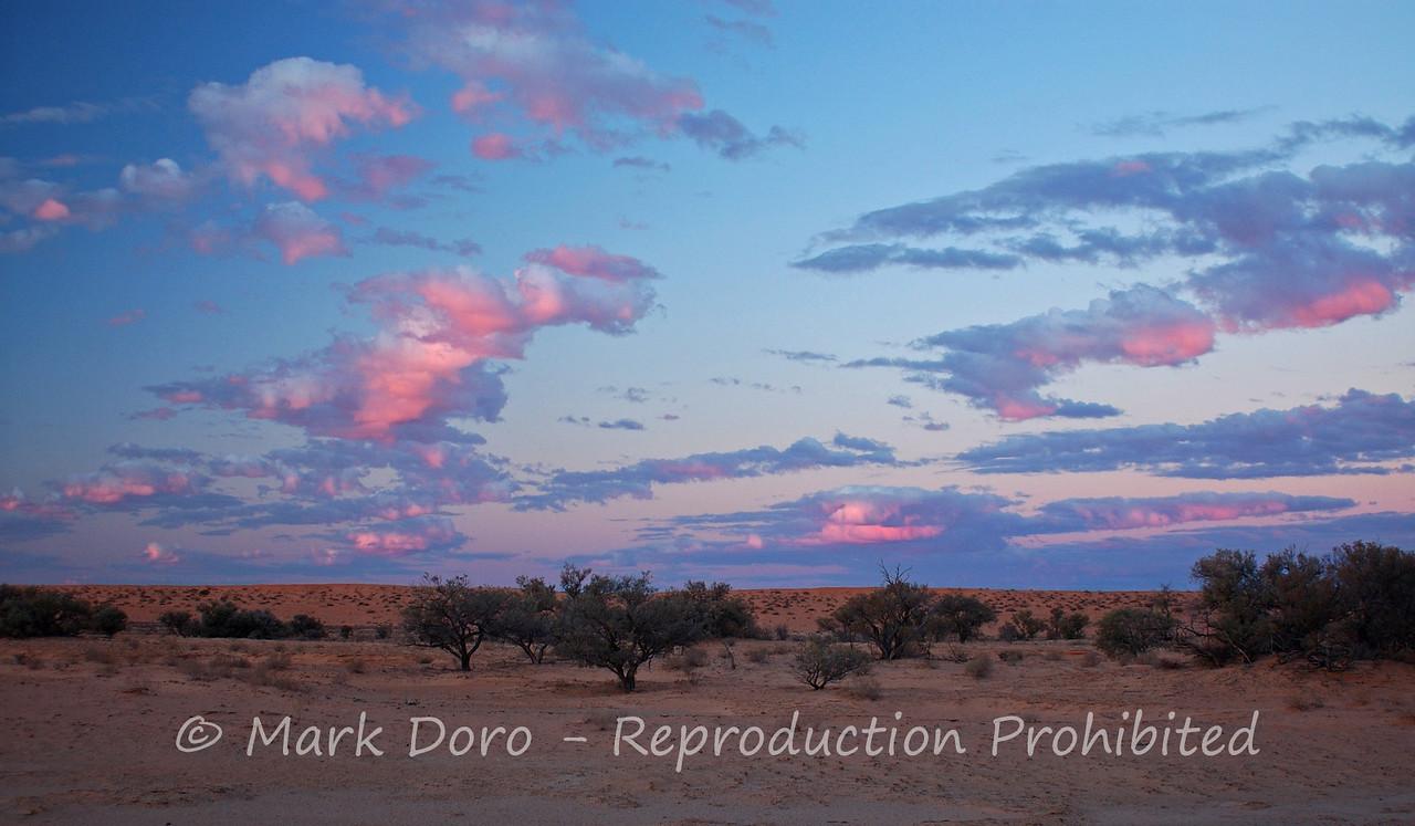 Sunset in the Simpson Desert