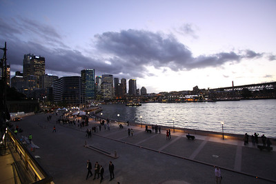 sunset on Circular Quay
