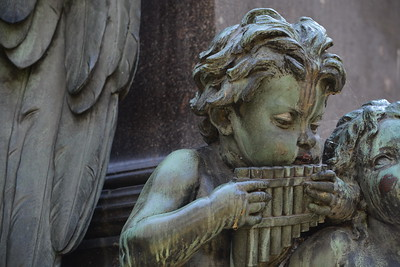 Beethoven -  cherub playing pan pipes