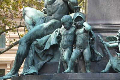 Beethoven  -- two cherubs at the base of statue