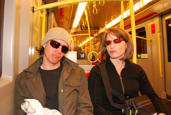 Brian and Linda on the U bahn.