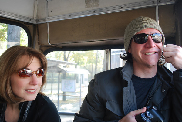 Linda and Brian on the tram