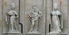 Composite of statues on the front wall of Salzburg Cathedral.