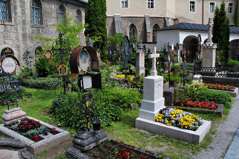 The ancient and famous St. Peter's Cemetery, has tombstones dating back to the year 1288. Citizens and family are responsible for tending to each gravesite.