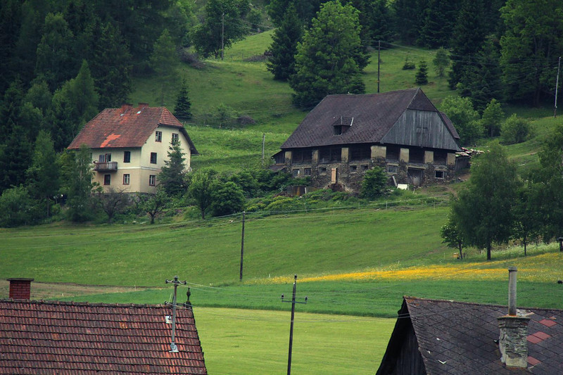 Houses in rural Austria.