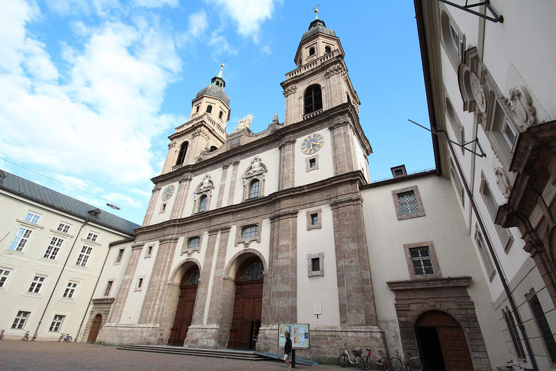 Hofkirche, or University Church in Innsbruck, Austria.