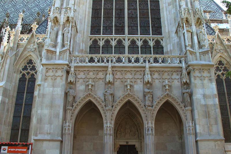 Votivkirche, Vienna. It was heavily damaged in WWII, losing some irreplaceable details.
