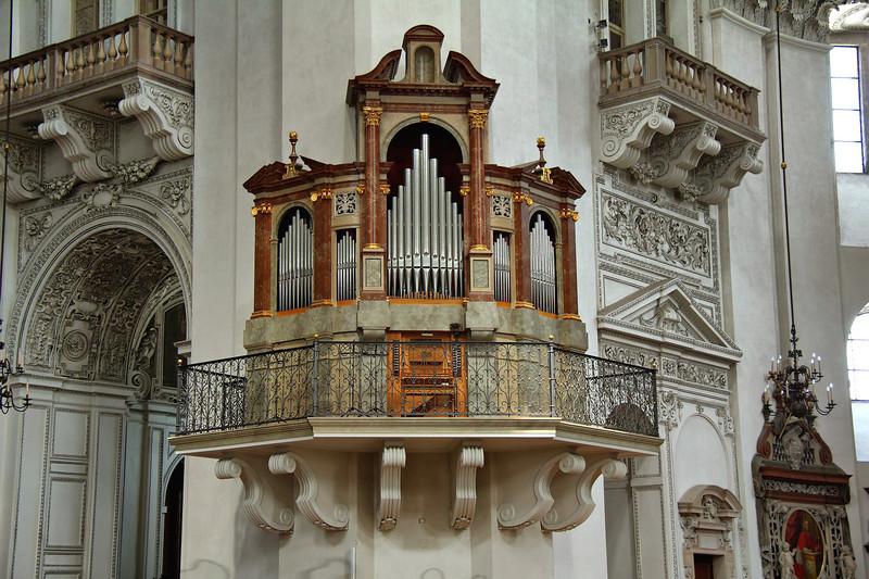 auxiliary organ in Salzburg Cathedral, Salzburg, Austria.