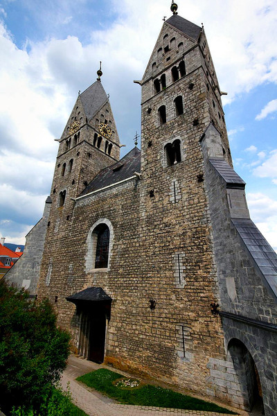 The Romanesque-styled Catholic Church of St. Bartholomew in Friesach, Austria. The town of Friesach is at least 1250 years old.