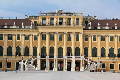 Schoenbrunn Palace, Vienna. Mozart's ride to fame started right here at age 6. See following photo for more on that.
