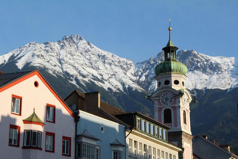 Morning in Innsbruck, Austria.