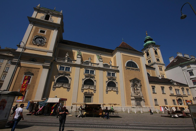 South wall of the Schottenkirche in Vienna, Austria.