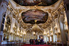 Grand Ballroom of the Schonbrunn Palace, Vienna, Austria. Camera was hand held and balanced on a rope stand.