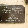 "The signature plate of the House of Pleasure. ""Women with Heart!  No, I did not go in!"
