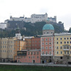 View of the fortress from the Hotel Stein rooftop cafe