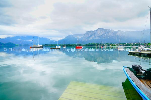 Natural and beautiful alpine Lake Mondsee