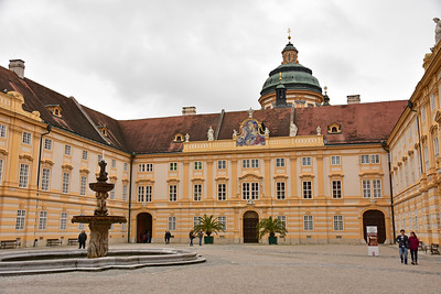 On the drive we stop at Melk abbey