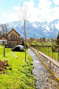 Austria Mill and Mountains