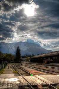Rail station in the Alps
