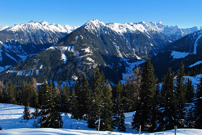 View from the Planai, one of the 4 main ski mountains at Schladming