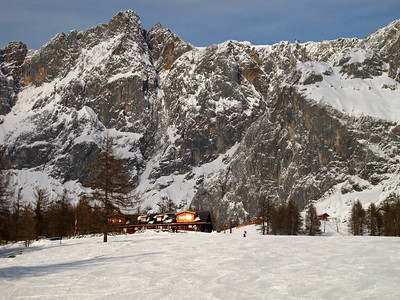 Stopping for lunch at the Adlerpiste