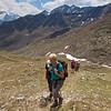 Continuing the climb to the ridge