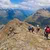 Descending from the peak to Brunnenkogelhaus for refreshments