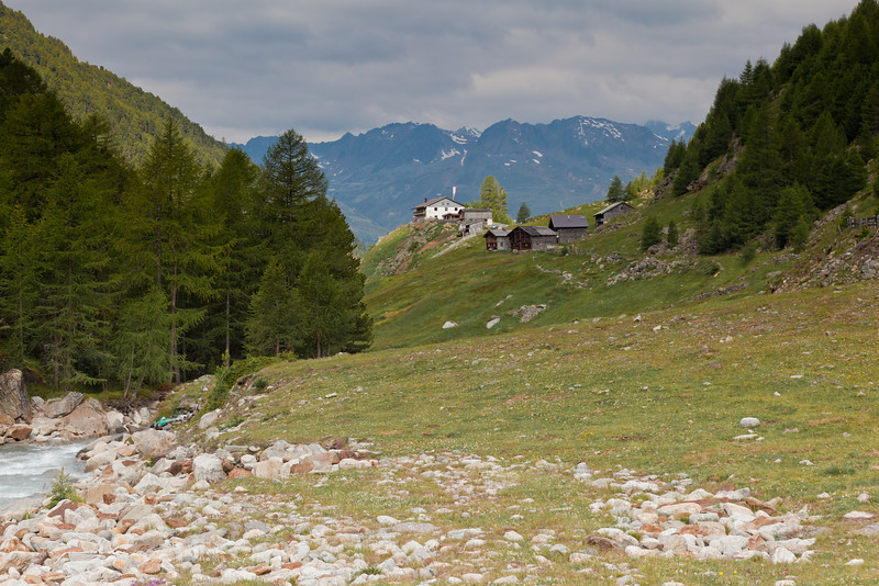 Looking back from the footbridge to the start (1,956 metres)  Fiegl Alp