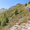 On route to the Edelweiss Hutte