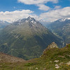 Fine views of the two valleys - Venter Tal and Gurgler Tal