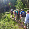 The start of the climb from the Windache river