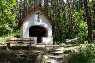 Forest open air chapel