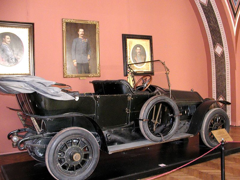 1911 Gräf & Stift open car in which Archduke Ferdinand was killed by Gavrilo Princip, triggering WWI.