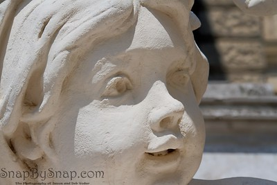 Detail of Statue of a Childs Face