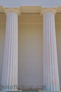 Looking up at White Marble Pillars