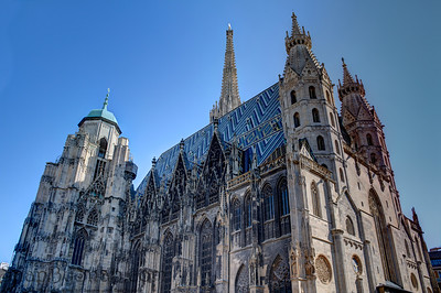 High Dynamic Range image of a cathedral in Vienna, Austria.