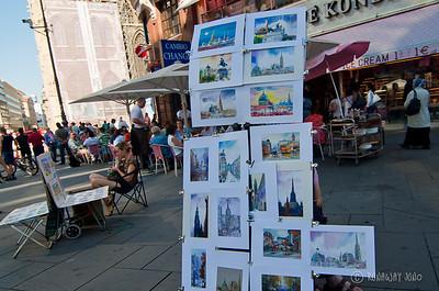 Art work in the street of Vienna