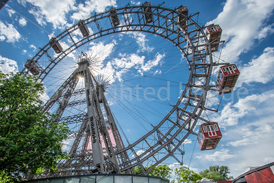 The Third Man Ferris Wheel in Prater Amusement Park