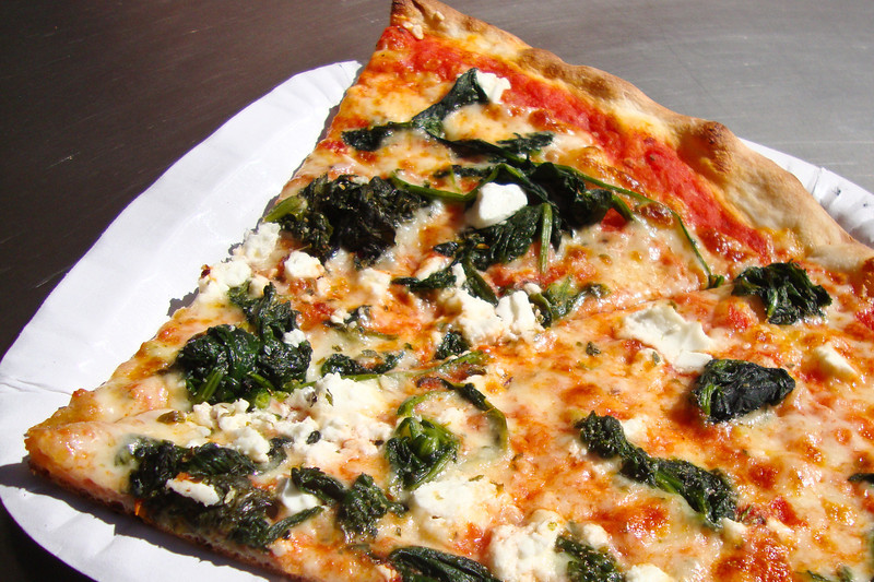 spinach feta pizza