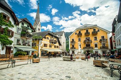 Hallstatt town square