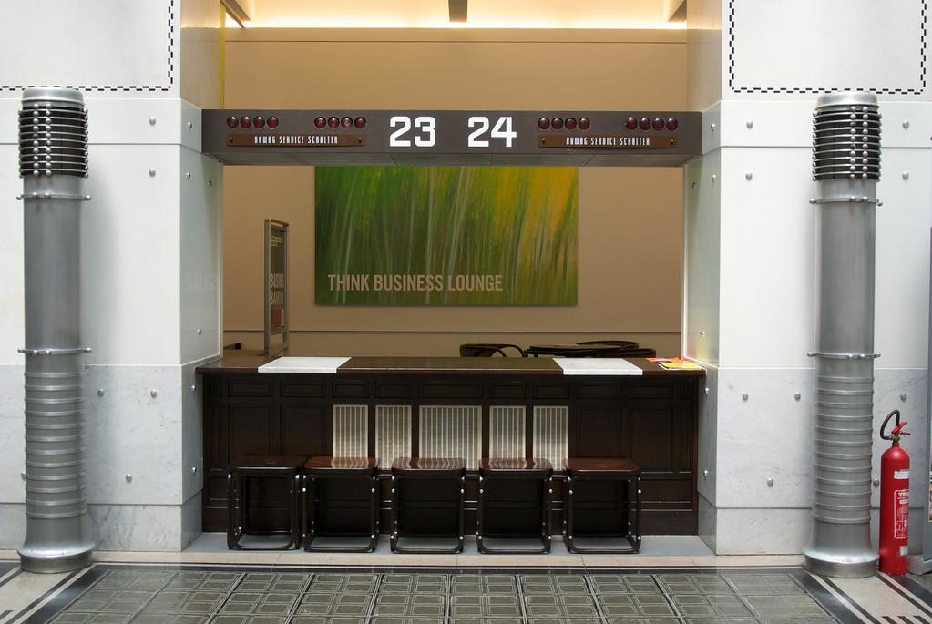 Vienna: Postal Savings Bank interior teller window