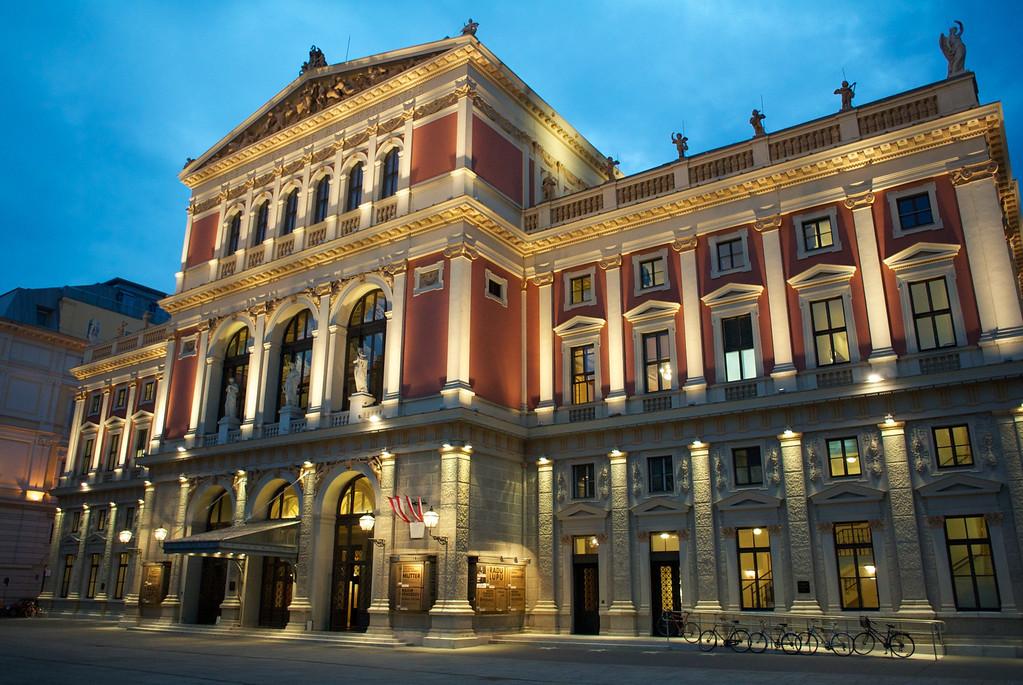 Vienna: Music Society Bldg at night