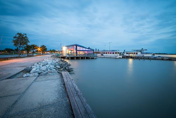 Evening in harbour